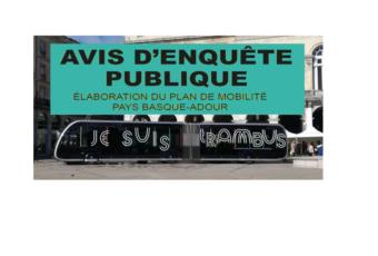PLAN DE MOBILITES : PARTICIPEZ A L'ENQUÊTE PUBLIQUE